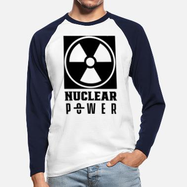 nuclear power nuclear energy nuclear power atomic energy - Men's Longsleeve Baseball T-Shirt