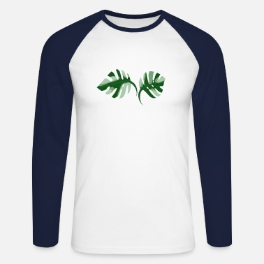 Monstera Leaf Monstera Leaf - Männer Baseball Langarmshirt
