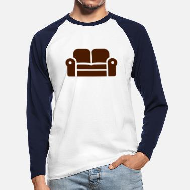 Couch couch - Men's Longsleeve Baseball T-Shirt