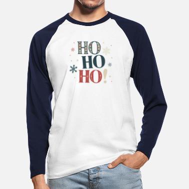 Ho Ho Ho! Christmas is here! - Men's Longsleeve Baseball T-Shirt
