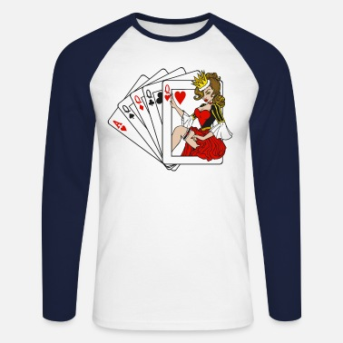 Playing Cards / Playing Cards - Men's Longsleeve Baseball T-Shirt