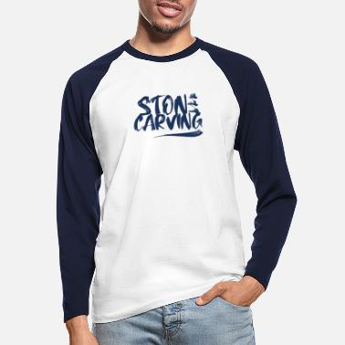 Skupteur Profession Stones Steinmetz Sculptor Carving stone - Men's Longsleeve Baseball T-Shirt
