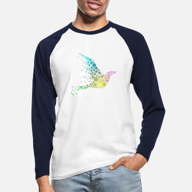 Bird Abstract Bird - Männer Baseball Langarmshirt