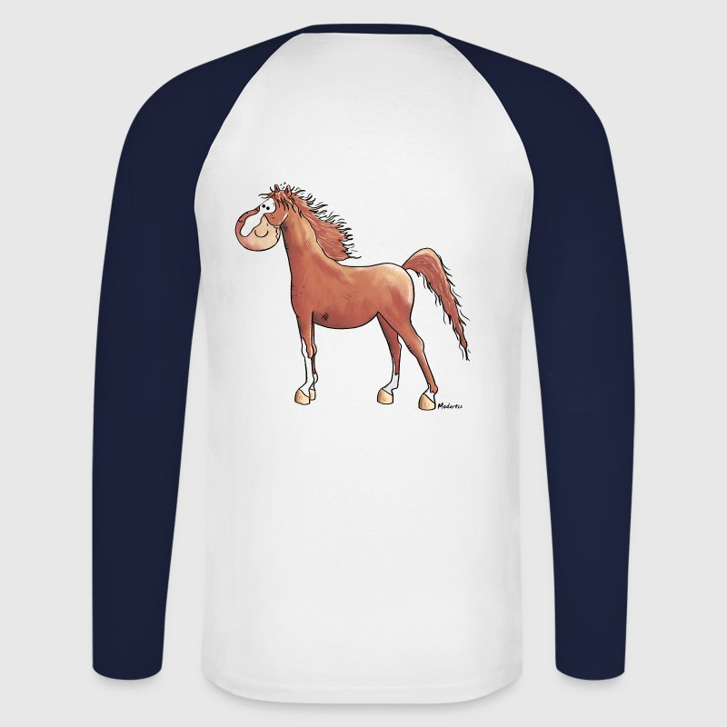 Funny Arabian Horse - Horses - Men's Long Sleeve Baseball T-Shirt