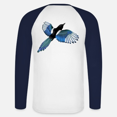 Colourful Magpie - Men's Long Sleeve Baseball T-Shirt