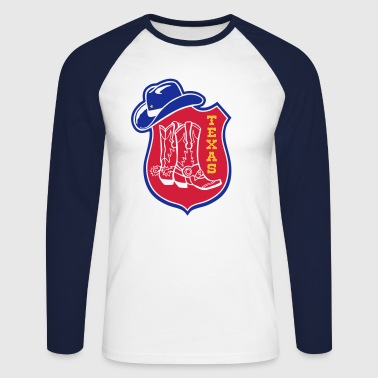 texas - Men's Long Sleeve Baseball T-Shirt
