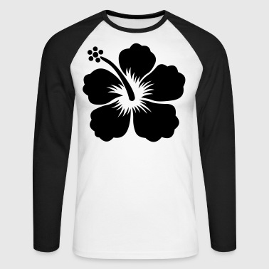 hibiscus flower - T-shirt baseball manches longues Homme