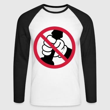 Poster, JGA jerking off forbidden, 3c. - Men's Long Sleeve Baseball T-Shirt