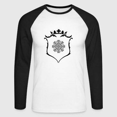 A crest with crown - Men's Long Sleeve Baseball T-Shirt