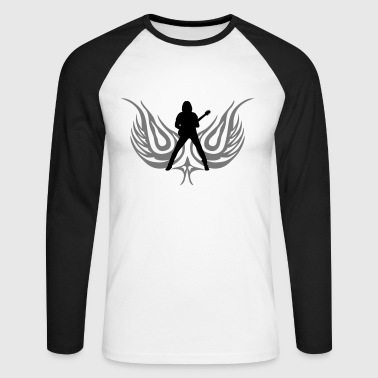 guitarist - Men's Long Sleeve Baseball T-Shirt