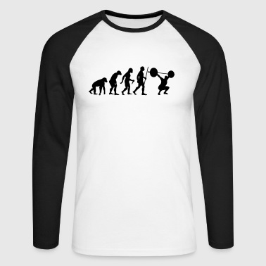 Evolution - Squat - Men's Long Sleeve Baseball T-Shirt