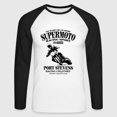 Supermoto - Men's Long Sleeve Baseball T-Shirt