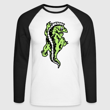 echse reptil - Men's Long Sleeve Baseball T-Shirt