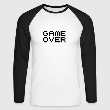 Game over / game over pixels - T-shirt baseball manches longues Homme