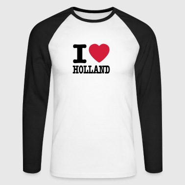 i love holland NO - Langermet baseball-skjorte for menn