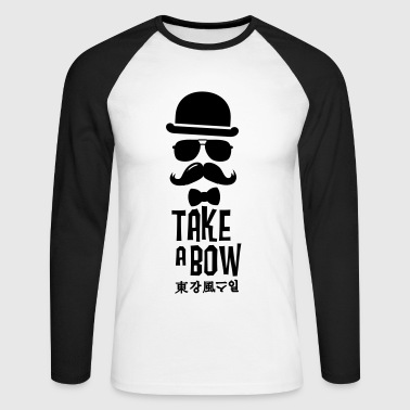 Like a swag bow tie moustache style boss t-shirts - Raglán manga larga hombre