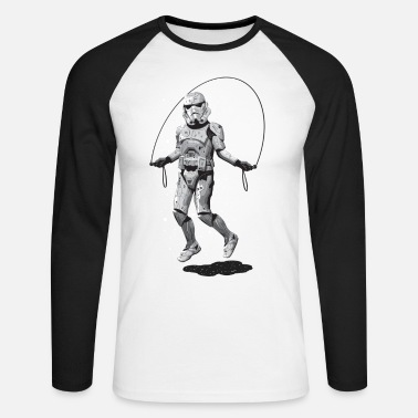Funny Collection STORMTROOPER SKIPPING - Men's Long Sleeve Baseball T-Shirt