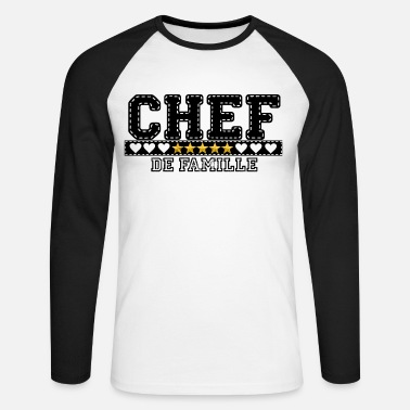 Chef Chef de famille - T-shirt baseball manches longues Homme