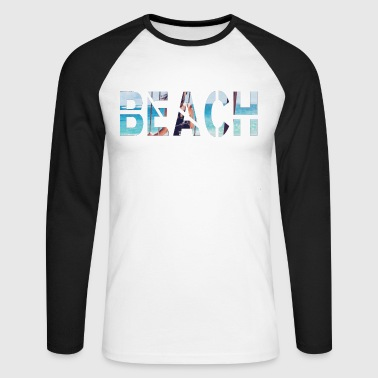 Plage plage plage - T-shirt baseball manches longues Homme