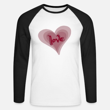 Love With Heart Love with Heart - Männer Baseball Langarmshirt