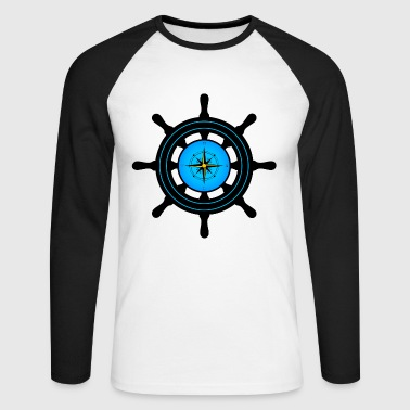 ships wheel - Men's Long Sleeve Baseball T-Shirt