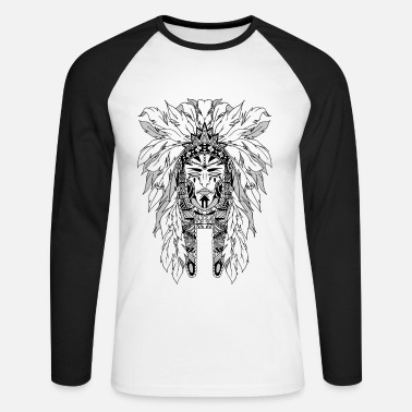 Black indian - Men's Long Sleeve Baseball T-Shirt