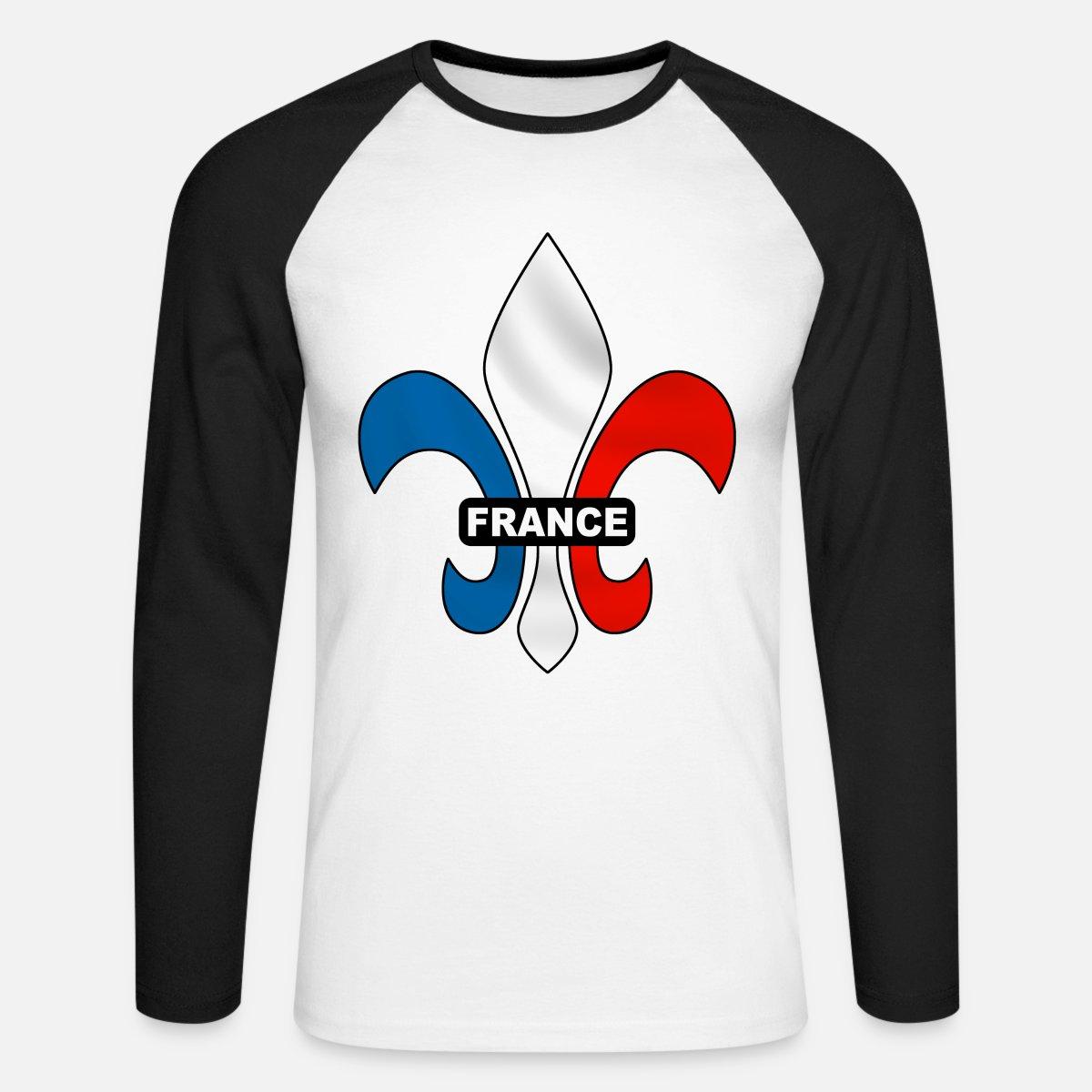 0ee9761ae4257 france - fleur de lys T-shirt manches longues baseball Homme   Spreadshirt