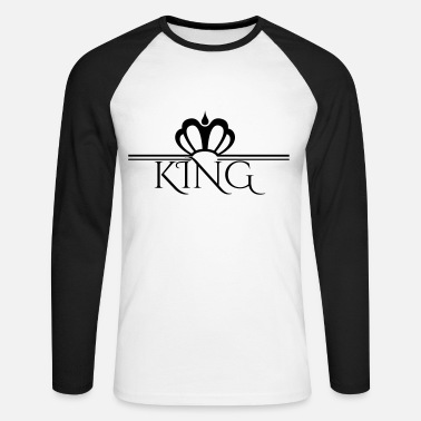 King and Queen  - Männer Baseball Langarmshirt