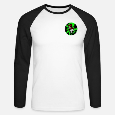 Mad Skullz Logo - Men's Longsleeve Baseball T-Shirt