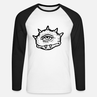 Bad Look A monster with a bad look - Men's Longsleeve Baseball T-Shirt