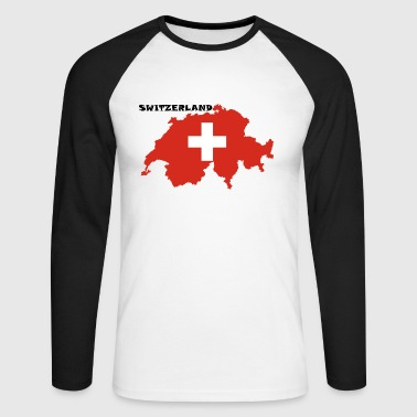 Switzerland Switzerland, Switzerland - Men's Long Sleeve Baseball T-Shirt