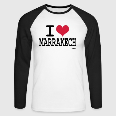 i love marrakech by wam - T-shirt baseball manches longues Homme