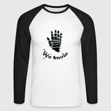 Skyrim we know - Skyrim, Dark brotherhood - Men's Long Sleeve Baseball T-Shirt