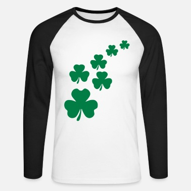 St Patricks Day Vector Design - Men's Long Sleeve Baseball T-Shirt
