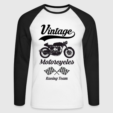 vintage motorcycles team 07 - T-shirt baseball manches longues Homme