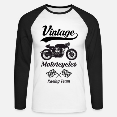 Moto vintage motorcycles team 07 - T-shirt baseball manches longues Homme