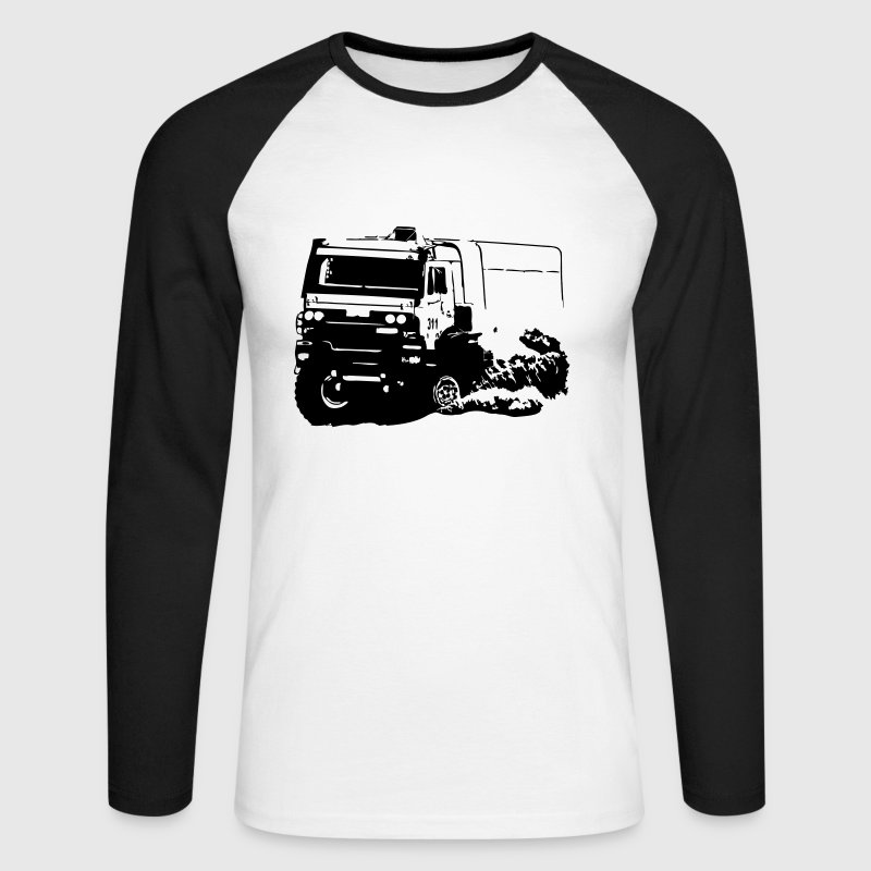 Rally Dakar - Truck Race - Men's Long Sleeve Baseball T-Shirt