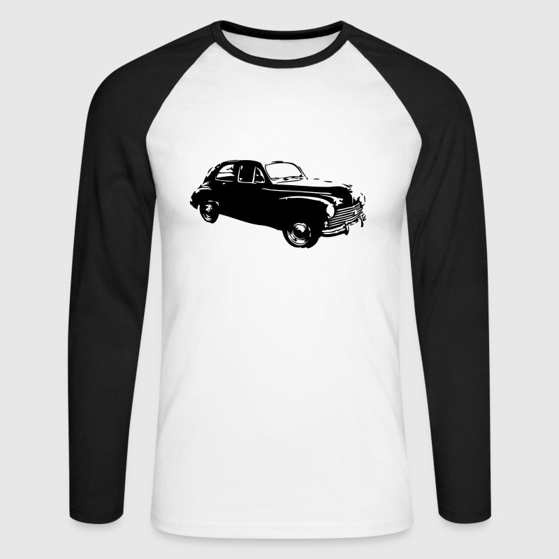 vintage voiture 203 ok2 - T-shirt baseball manches longues Homme