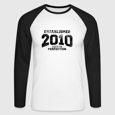 established 2010 - Männer Baseballshirt langarm