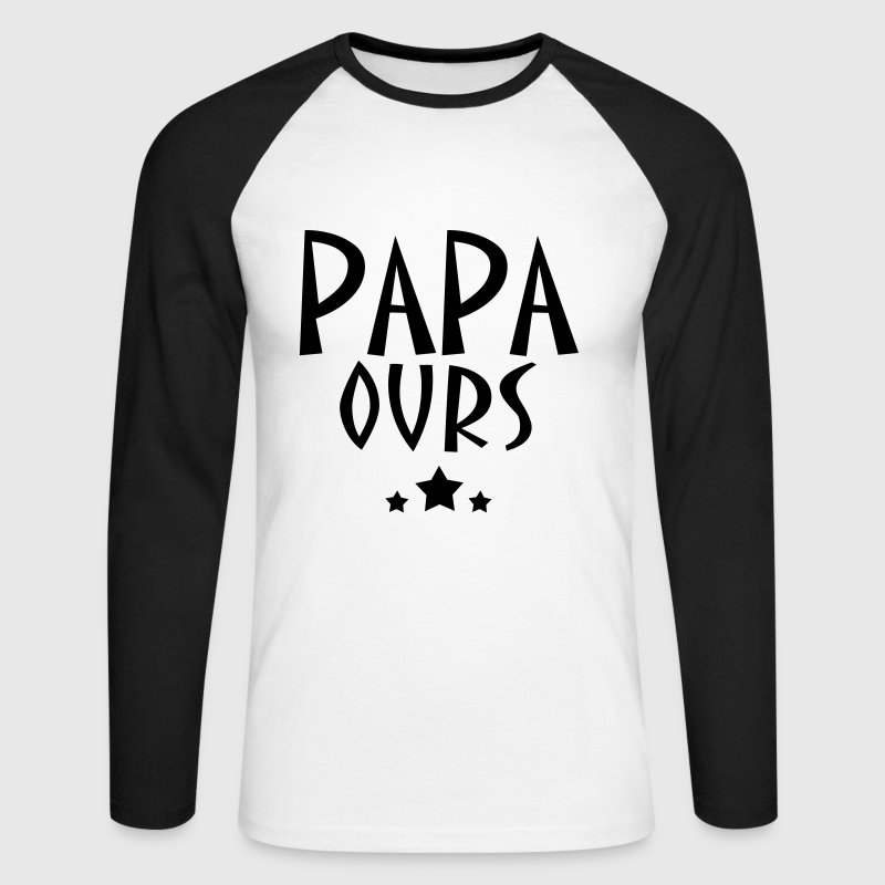 PAPAOURS - T-shirt baseball manches longues Homme