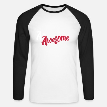 Awesome A for Awesome - Men's Longsleeve Baseball T-Shirt