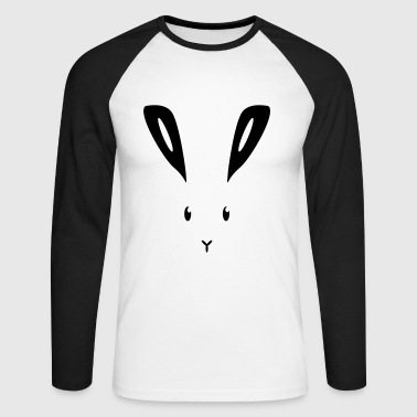 Lapin Hare lapin bunny bunny lapin lièvre - T-shirt baseball manches longues Homme