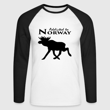 Accro à la Norvège - Accro à la Norvège - T-shirt baseball manches longues Homme