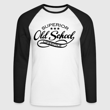 Old School old school - Men's Long Sleeve Baseball T-Shirt