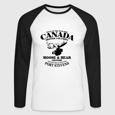 Moose - Canada - T-shirt baseball manches longues Homme