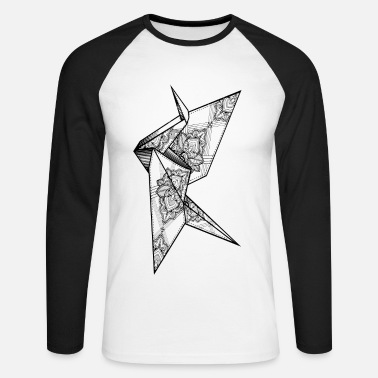 Insane Crane - Men's Long Sleeve Baseball T-Shirt