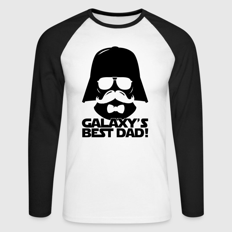 Funny Best Dad of the Galaxy statement - Men's Long Sleeve Baseball T-Shirt