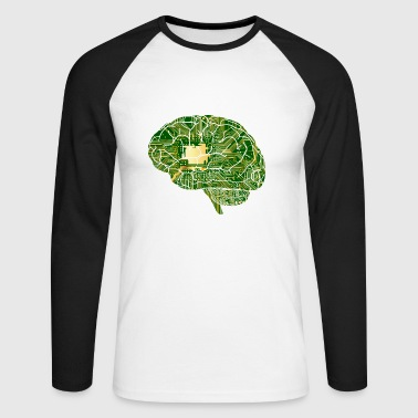 Brain Computer Chip Chip Computer - Men's Long Sleeve Baseball T-Shirt