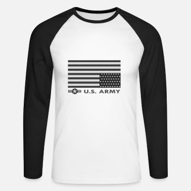Us Army US army - Men's Long Sleeve Baseball T-Shirt