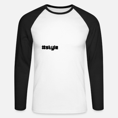 Style style de style - T-shirt baseball manches longues Homme